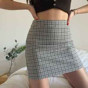 VINTAGE Fully Lined Plaid Wool Skirt -Size XS